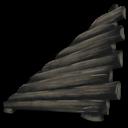 Sloped Wood Wall Left Symbol