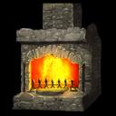 Stone Fireplace Symbol